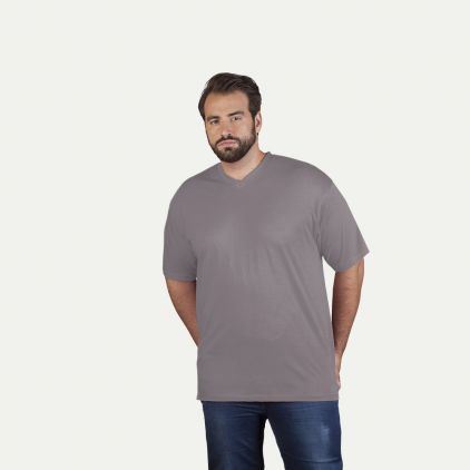 T-shirt Premium col V grandes tailles Hommes Promotion