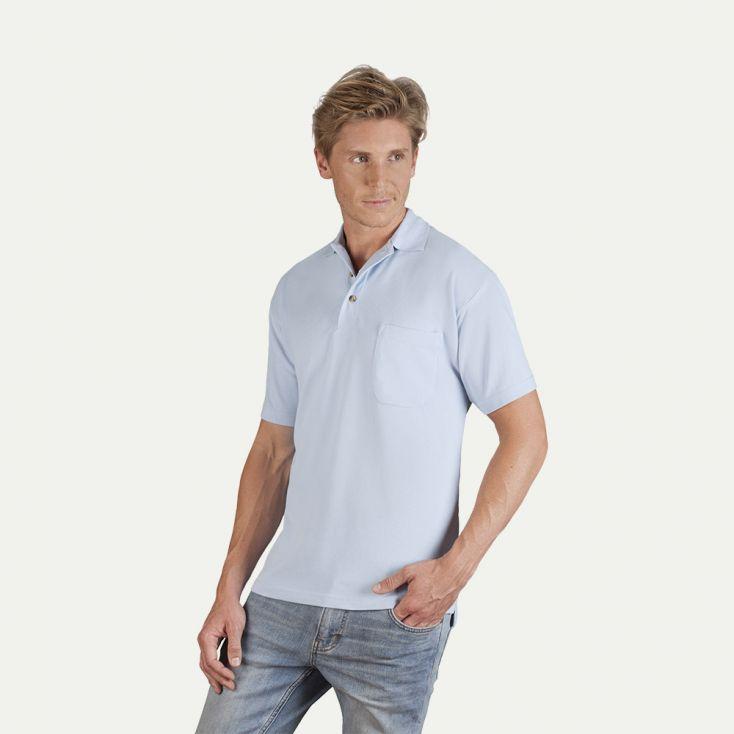 Heavy Poloshirt mit Brusttasche Herren Sale