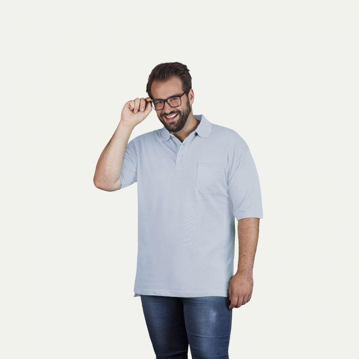 Heavy Poloshirt mit Brusttasche Plus Size Herren Sale