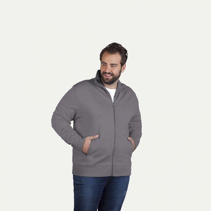Stehkragen Zip Jacke Plus Size Herren Sale