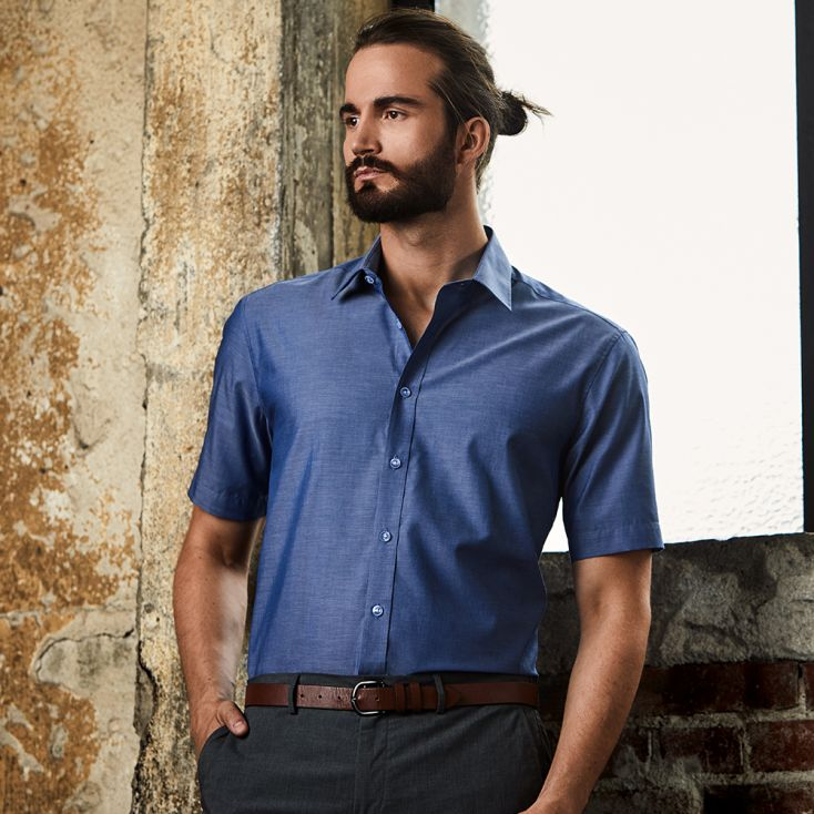 Chemise Oxford Manches Courtes Workwear Hommes