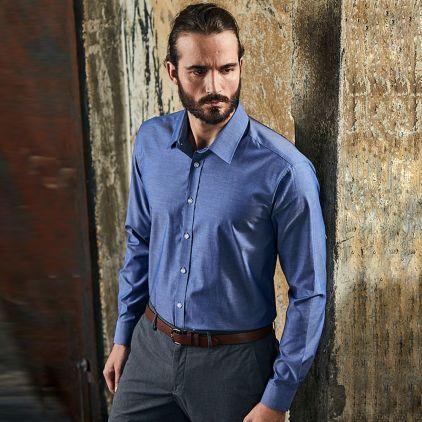 Oxford Langarm-Hemd Workwear Herren