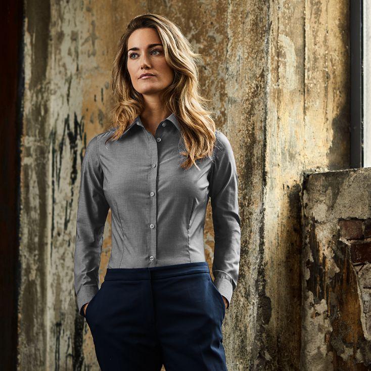 Oxford Longsleeve Blouse Workwear Women