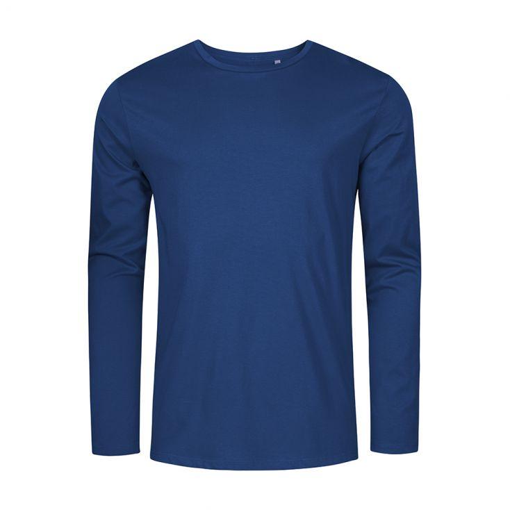 Rundhals Langarmshirt Plus Size Herren