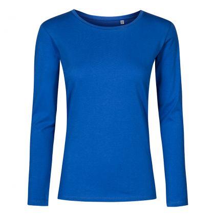 Rundhals Langarmshirt Plus Size Damen