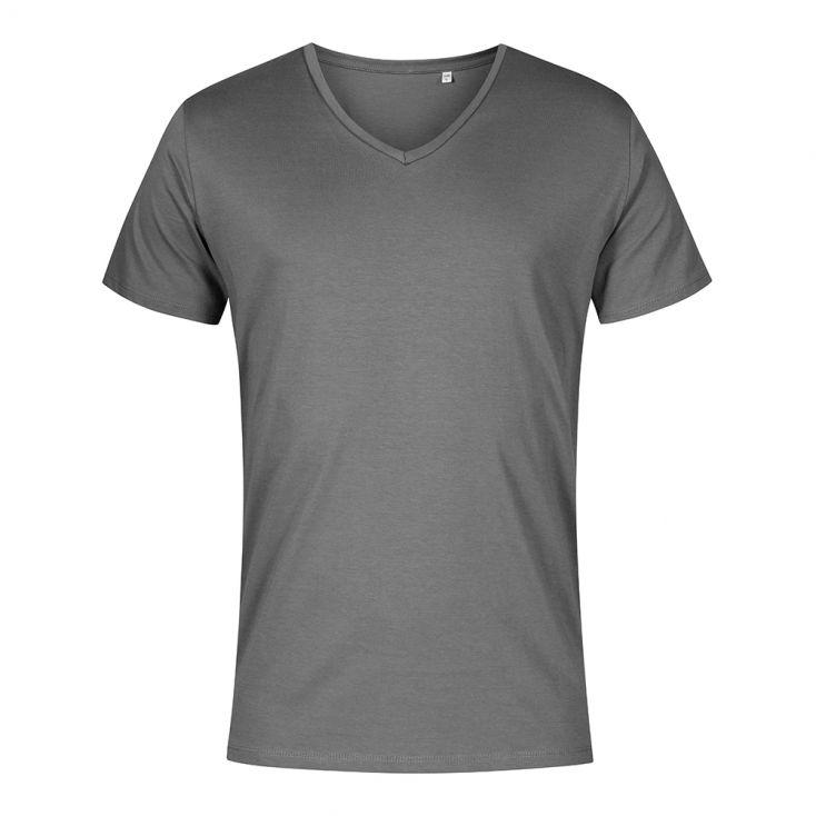 V-Ausschnitt T-Shirt Plus Size Herren