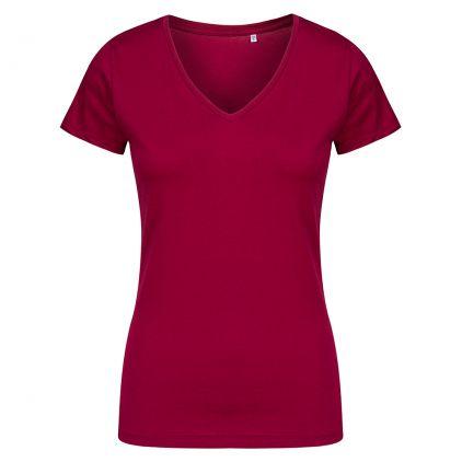 V-Ausschnitt T-Shirt Plus Size Damen