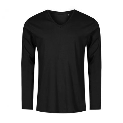 T-shirt manches longues col V grandes tailles Hommes