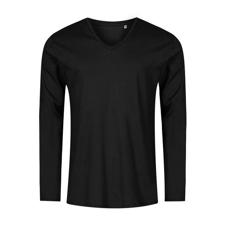 V-Ausschnitt Langarmshirt Plus Size Herren