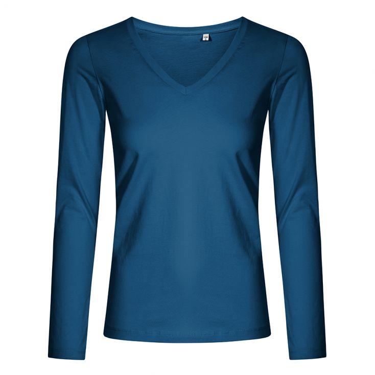 V-Ausschnitt Langarmshirt Plus Size Damen