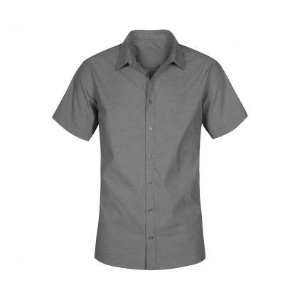 Oxford Kurzarm-Hemd Plus Size Herren