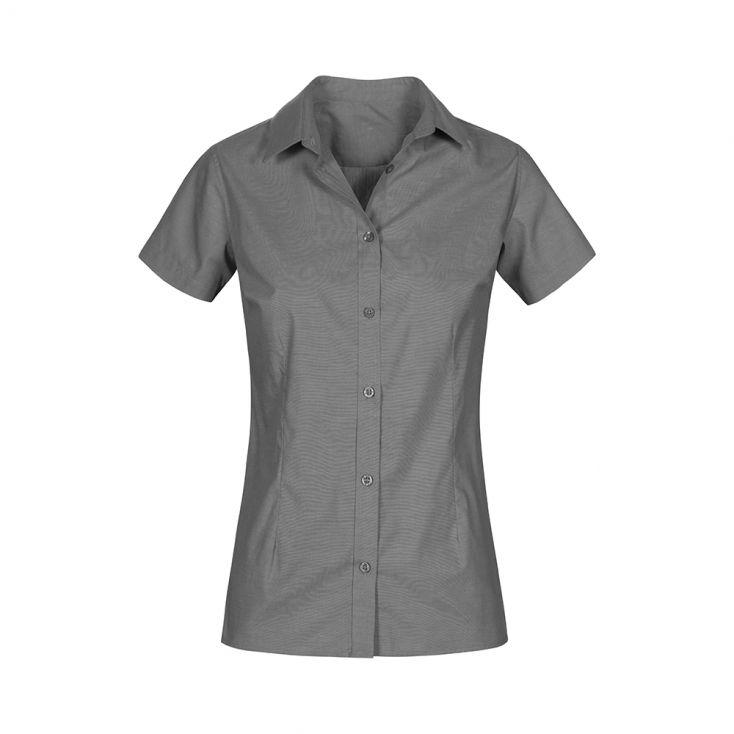 Oxford Shortsleeves Blouse Plus Size Workwear Women