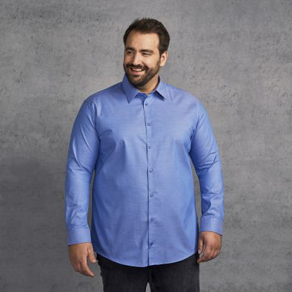Oxford Langarm-Hemd Plus Size Herren