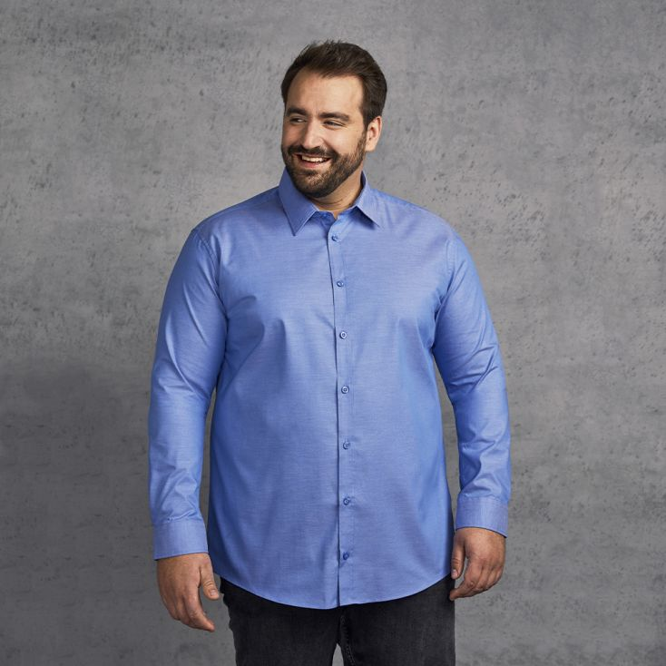 Oxford Longsleeve Shirt Plus Size Men