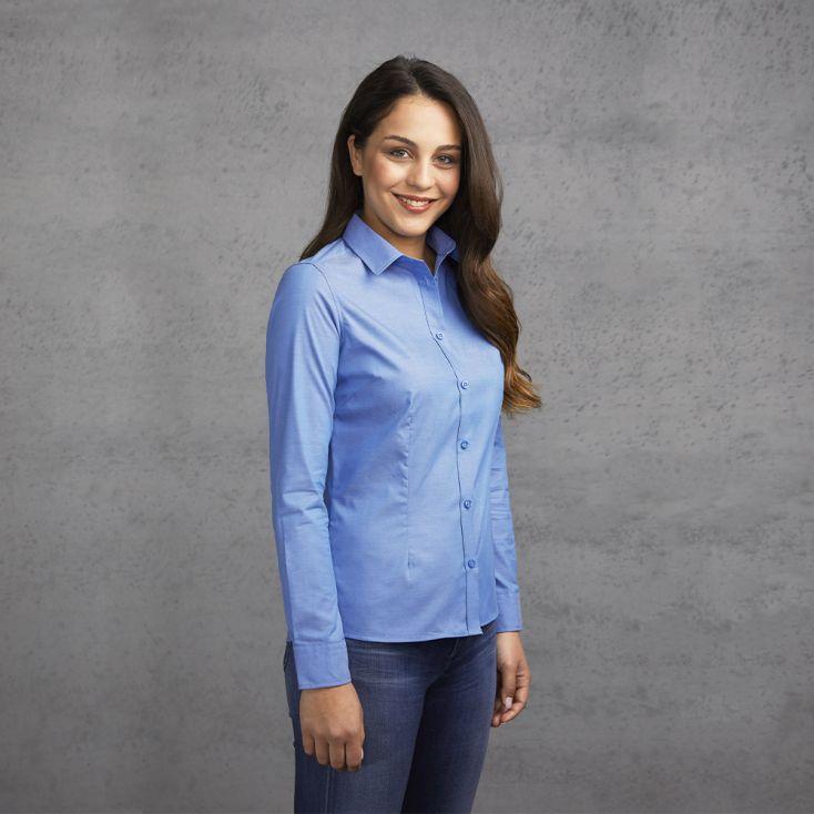 Oxford Langarm-Bluse Damen
