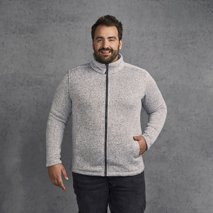Knit fleece Jacket C+ Plus Size Men