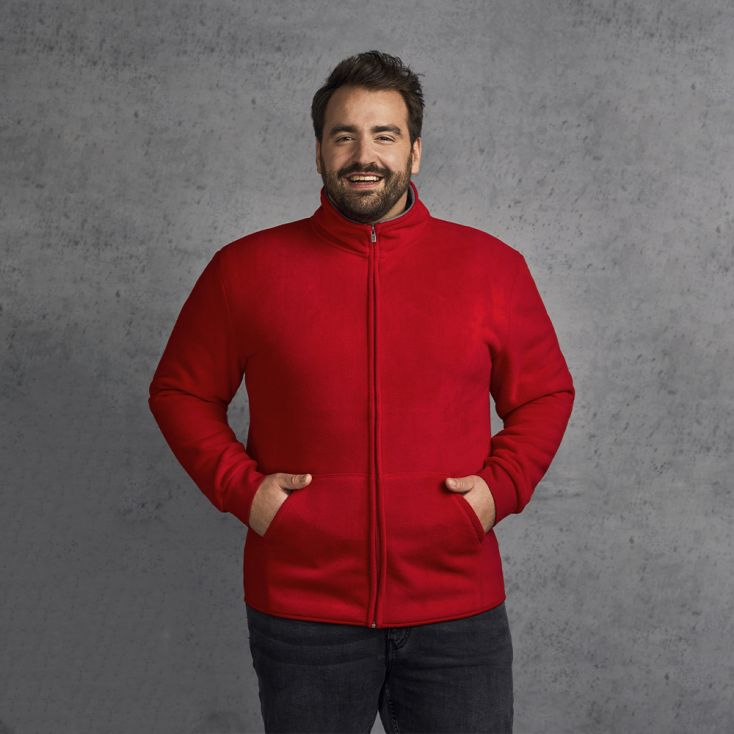Double Fleece Jacket Plus Size Men