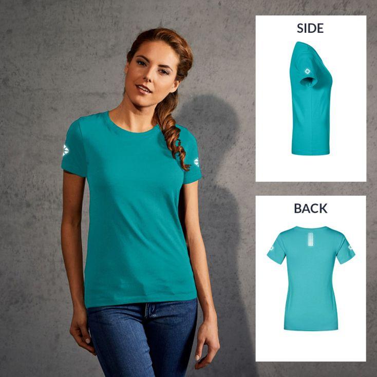 """Réflectif """"run out"""" T-shirt Premium Femmes"""