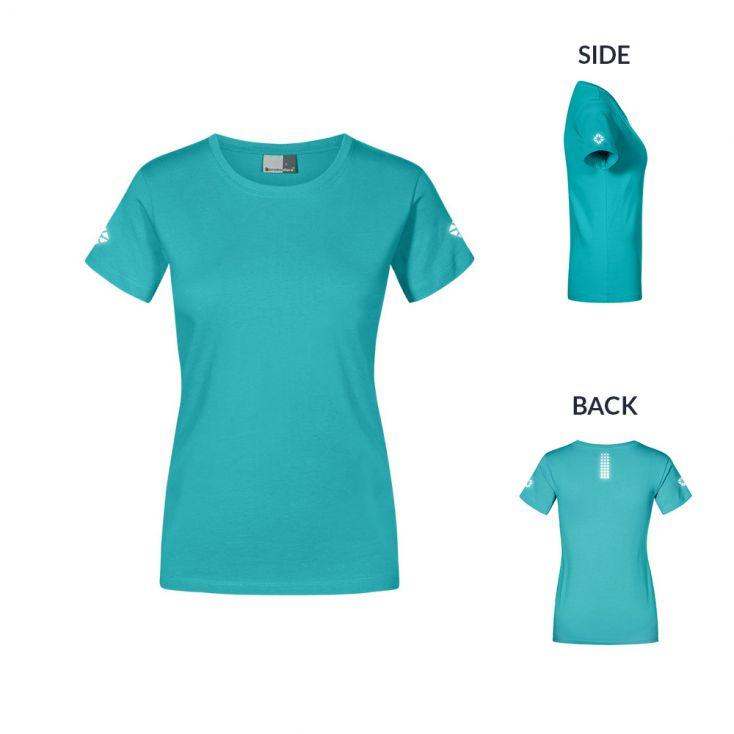 "Reflective ""run out"" Premium T-Shirt Plus Size Damen"