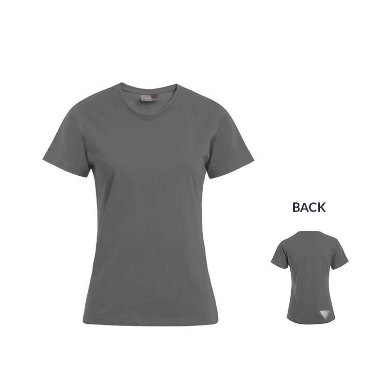 "Reflective ""marathon winner"" Premium T-Shirt Plus Size Damen"