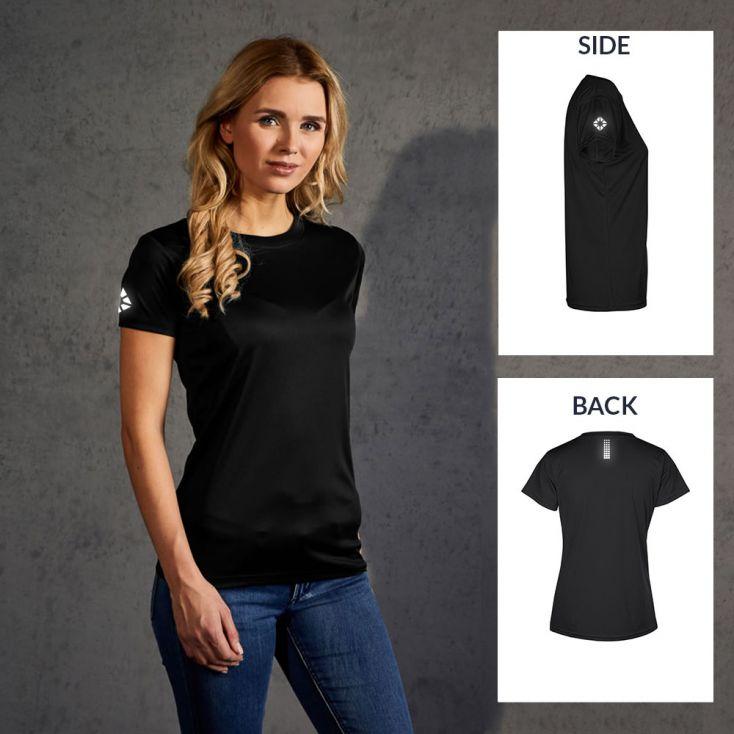 "Reflective ""run out"" UV-Performance T-Shirt Damen"