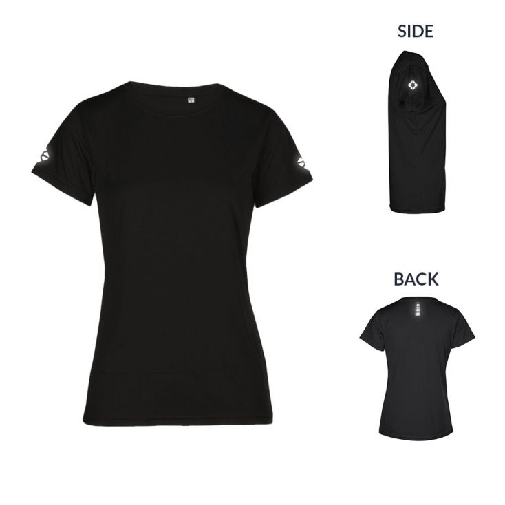 "Reflective ""run out"" UV-Performance T-shirt Plus Size Women"