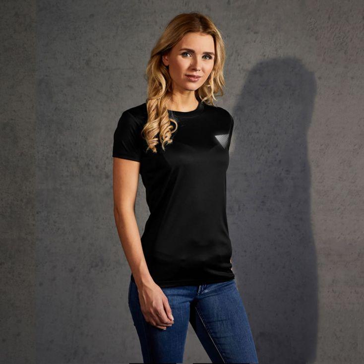 "Réfléchissant ""marathon winner"" T-shirt UV-Performance Femmes"