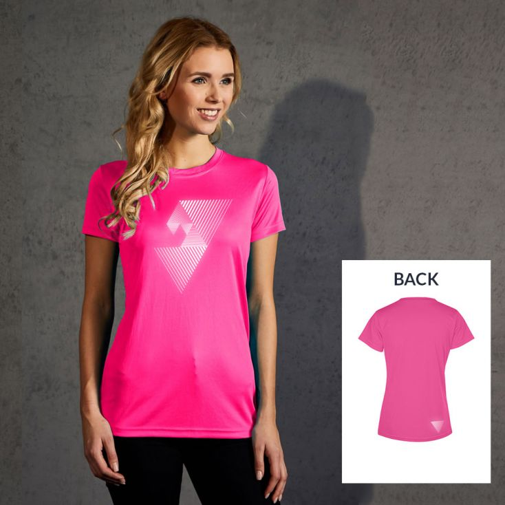 "Reflective ""mental focus"" UV-Performance T-Shirt Damen"
