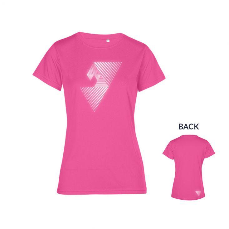 "Reflective ""mental focus"" UV-Performance T-Shirt Plus Size Damen"