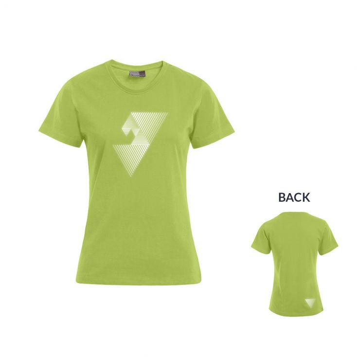 """Reflective """"mental focus"""" Premium T-Shirt Plus Size Damen"""