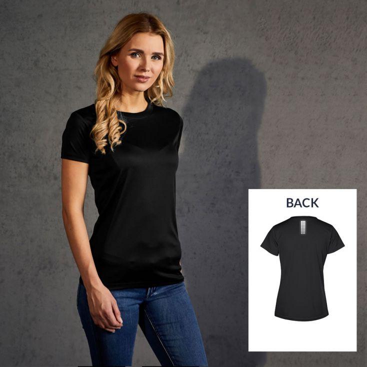 "Reflective ""race point"" UV-Performance T-shirt Women"