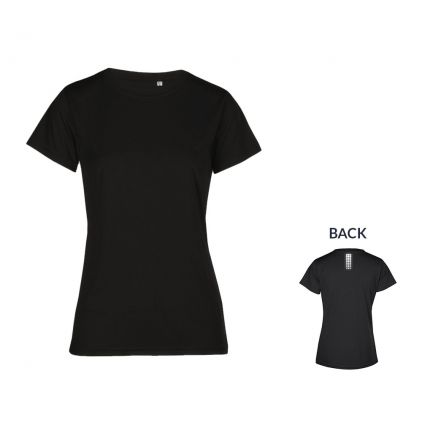 "Reflective ""race point"" UV-Performance T-shirt Plus Size Women"