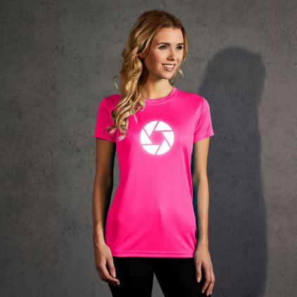 "Reflective ""cirlce"" UV-Performance T-Shirt Damen"