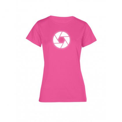 "Reflective ""circle"" UV-Performance T-Shirt Plus Size Damen"