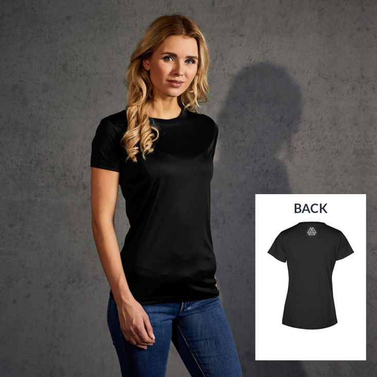 "Reflective ""training goal"" UV-Performance T-Shirt Damen"