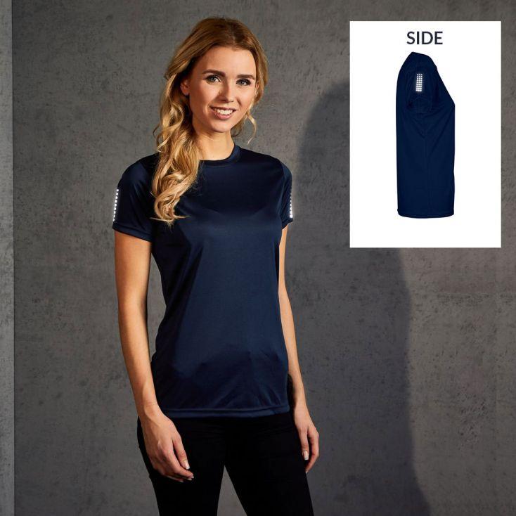 """Réflectif """"race points"""" T-shirt UV-Performance Femmes"""