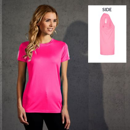 "Reflective ""race points"" UV-Performance T-Shirt Damen"