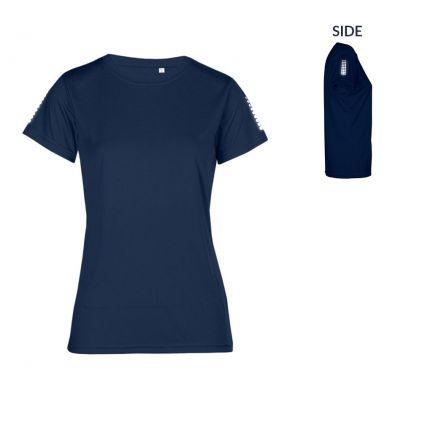 "Reflective ""race points"" UV-Performance T-Shirt Plus Size Damen"