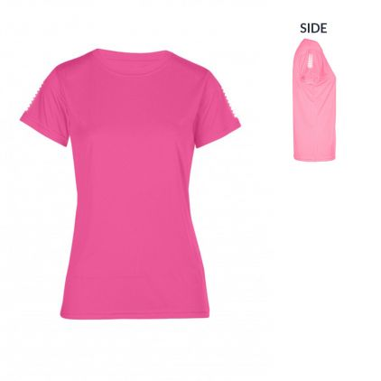 "Reflective ""race points"" UV-Performance T-shirt Plus Size Women"