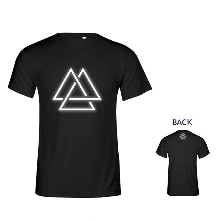 "Reflective ""training goal"" UV-Performance T-Shirt Plus Size Herren"