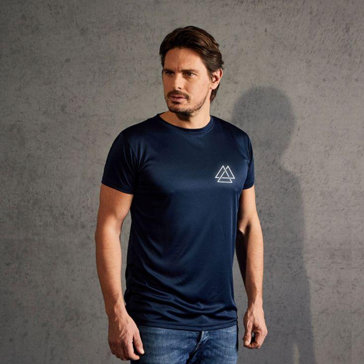 "Réfléchissant ""training goal"" T-shirt UV-Performance Hommes"
