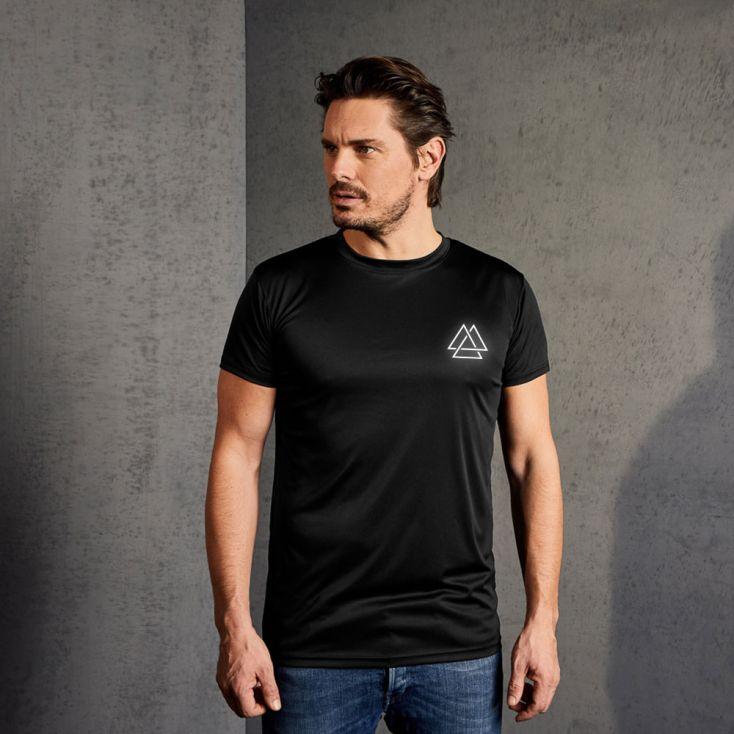 "Reflective ""training goal"" UV-Performance T-shirt Herren"