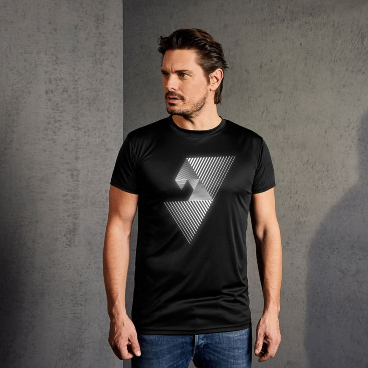 "Reflective ""balance mental"" UV-Performance T-Shirt Herren"