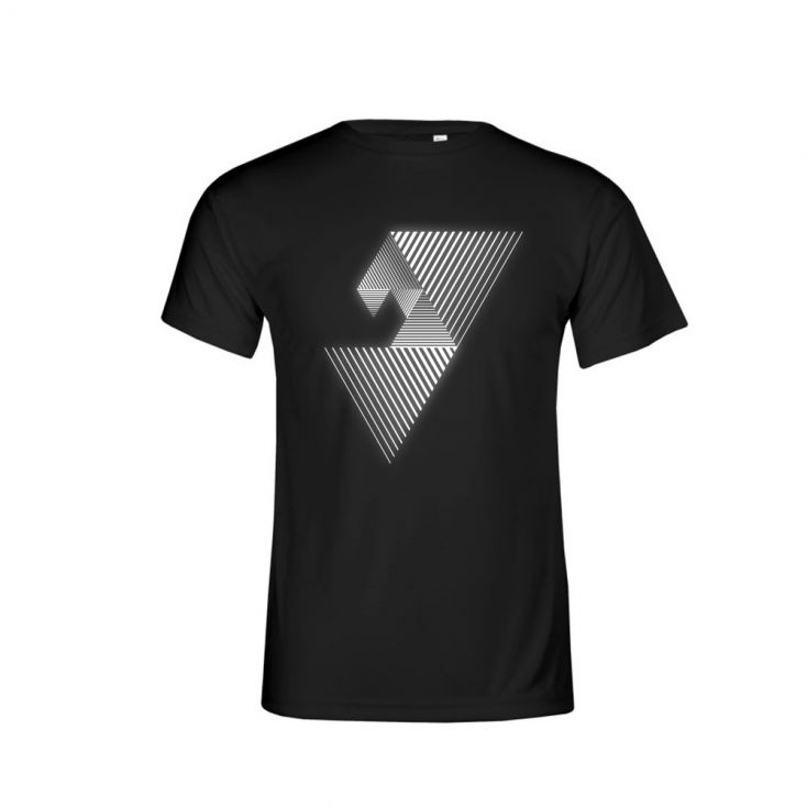 "Reflective ""balance mental"" UV-Performance T-shirt Plus Size Men"
