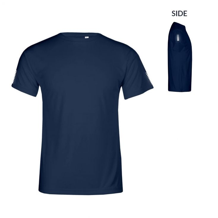 """Reflective """"race points"""" UV-Performance T-shirt Plus Size Men"""