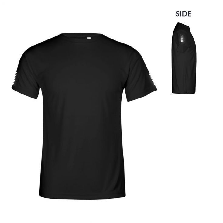 "Reflective ""race points"" UV-Performance T-Shirt Plus Size Herren"