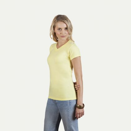 Wellness V-Ausschnitt T-Shirt Damen Sale