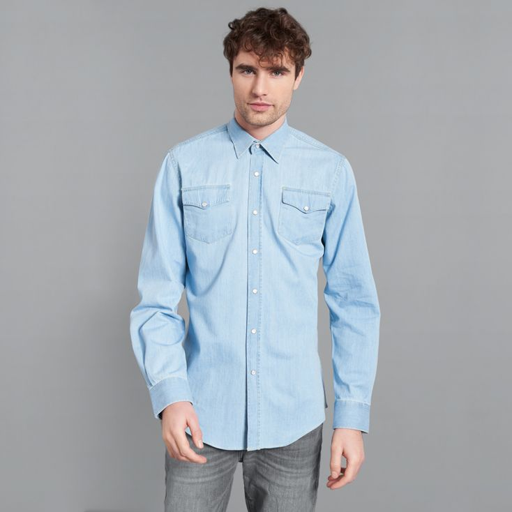 Denim Shirt Men