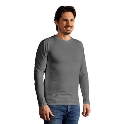 Slim-Fit Langarmshirt Herren Sale