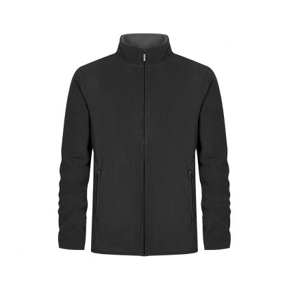 Double Fleece Zip Jacket Plus Size Men